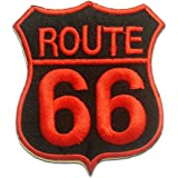 ROUTE 66 Patch ''6.8 x 8.0 cm'' - Écusson brodé Ecussons Imprimés Ecussons Thermocollants Broderie Sur Vetement Ecusson
