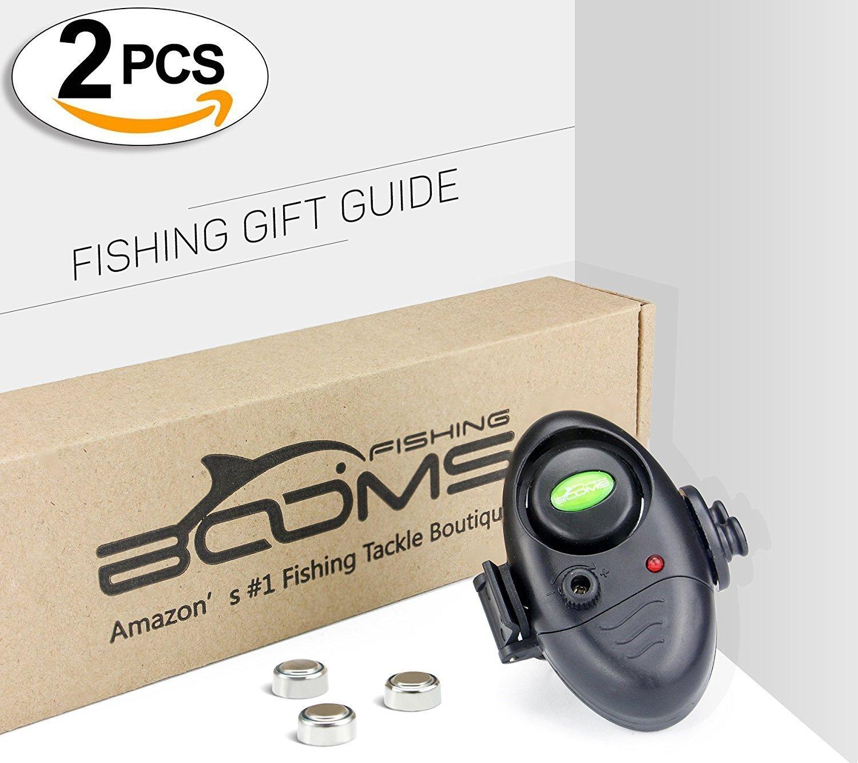 Booms Fishing E02 Electronic Fish Bite Alarm LED Indicator Sound Alert On Fishing Rod