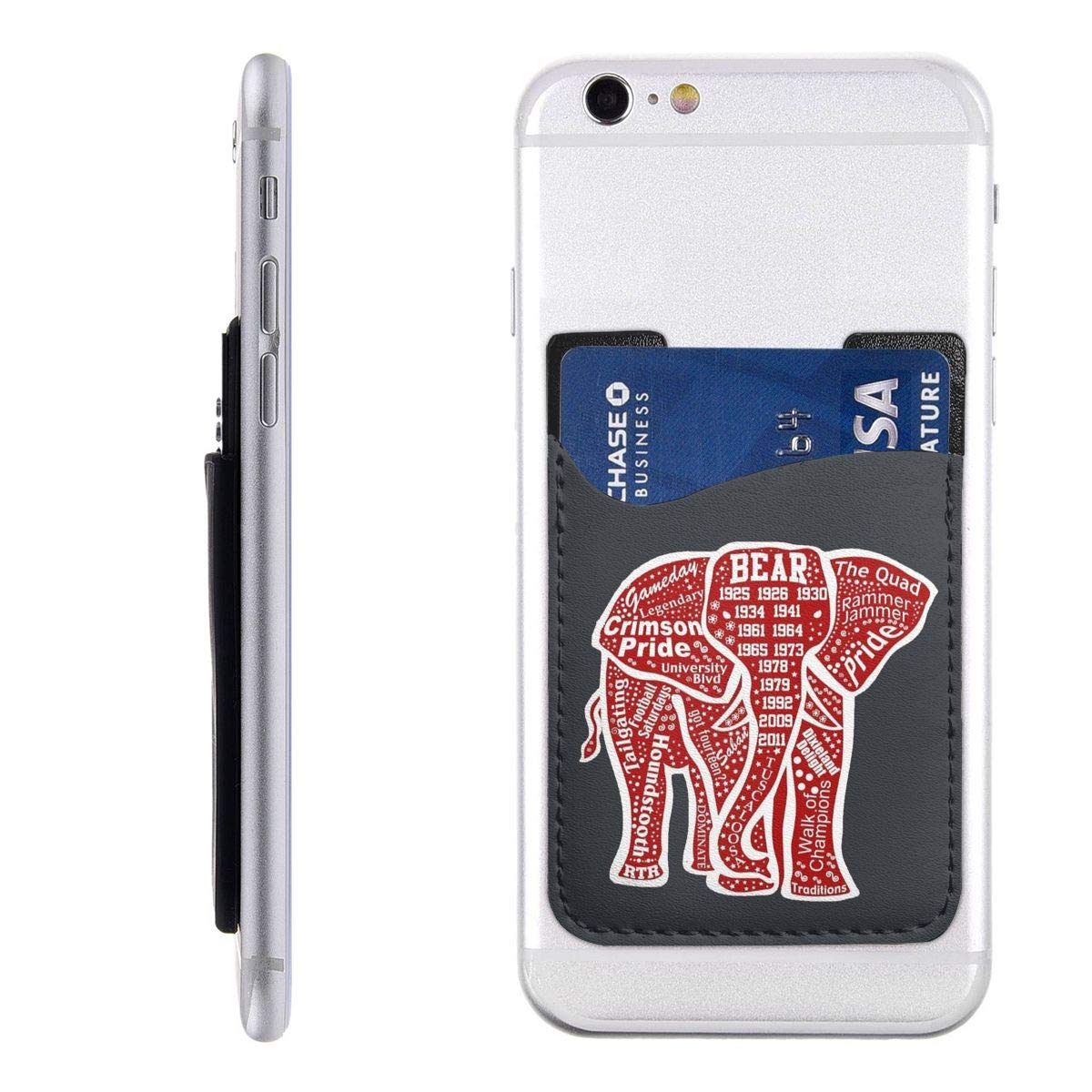 Alabama Red Elephant Cell Phone Pockets Pouch Card Holder Wallet for Back of Phone by XinXin Card Package