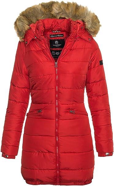 Navahoo PAULA Damen Winter Jacke Steppjacke Mantel Parka Kapuze Warm Gefüttert