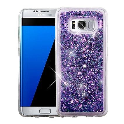 Amazon.com: Galaxy S8 + Funda, mybat Corazones con purpurina ...