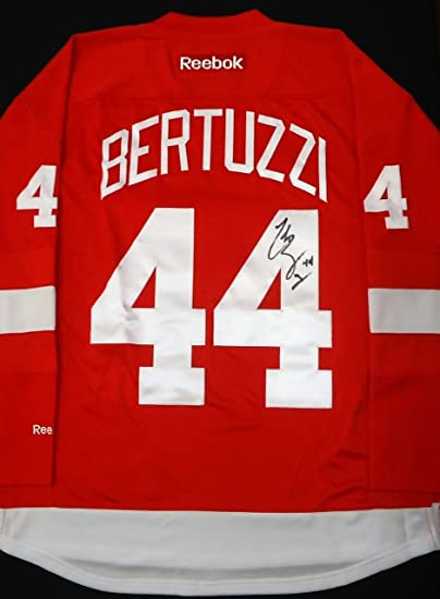 TODD BERTUZZI AUTOGRAPHED DETROIT RED WINGS HOME JERSEY at ...