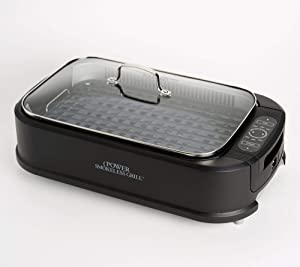 Power Smokeless Indoor Electric 1500W Grill w/Griddle Plate Model K48367