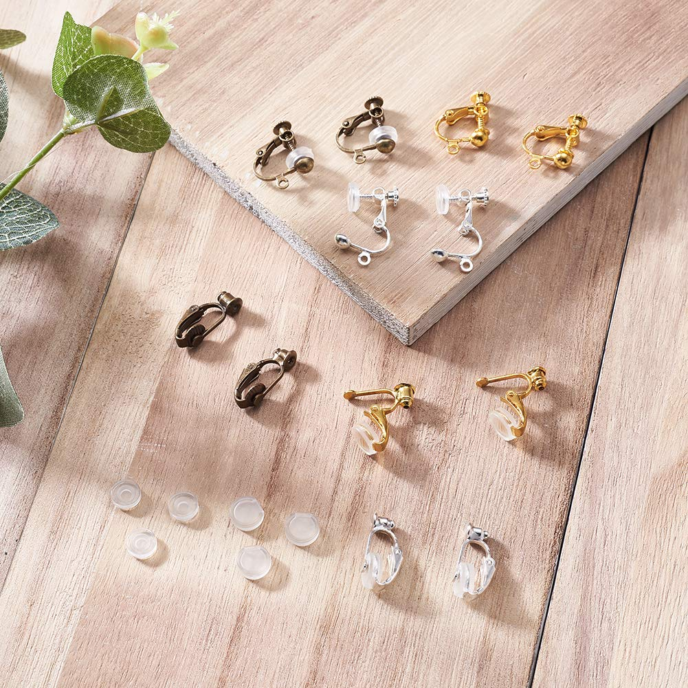 Kissitty 50 Sets Rose Gold Plated Brass Post Earring Studs Set Flat Round Blank Bezel Tray Cabochon Setting with Earring Backs Fit for 10mm Cadmium Free /& Nickel Free /& Lead Free