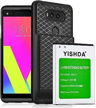 YISHDA LG V20 - Batería de repuesto para LG V20 (6600 mAh, batería ...