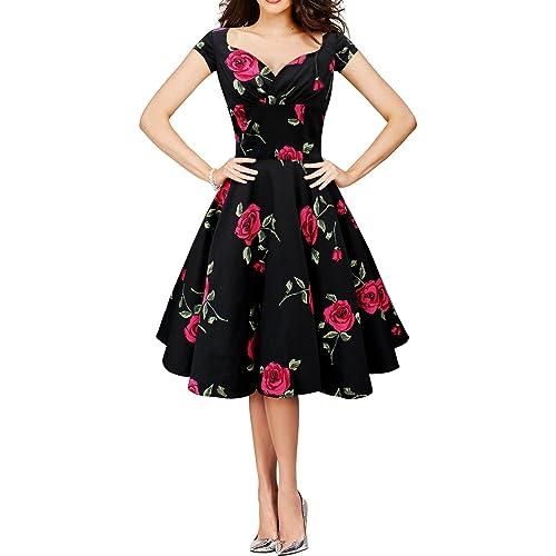 BlackButterfly Ruby Infinity Vintage Rockabilly Floral Pin Up Dress