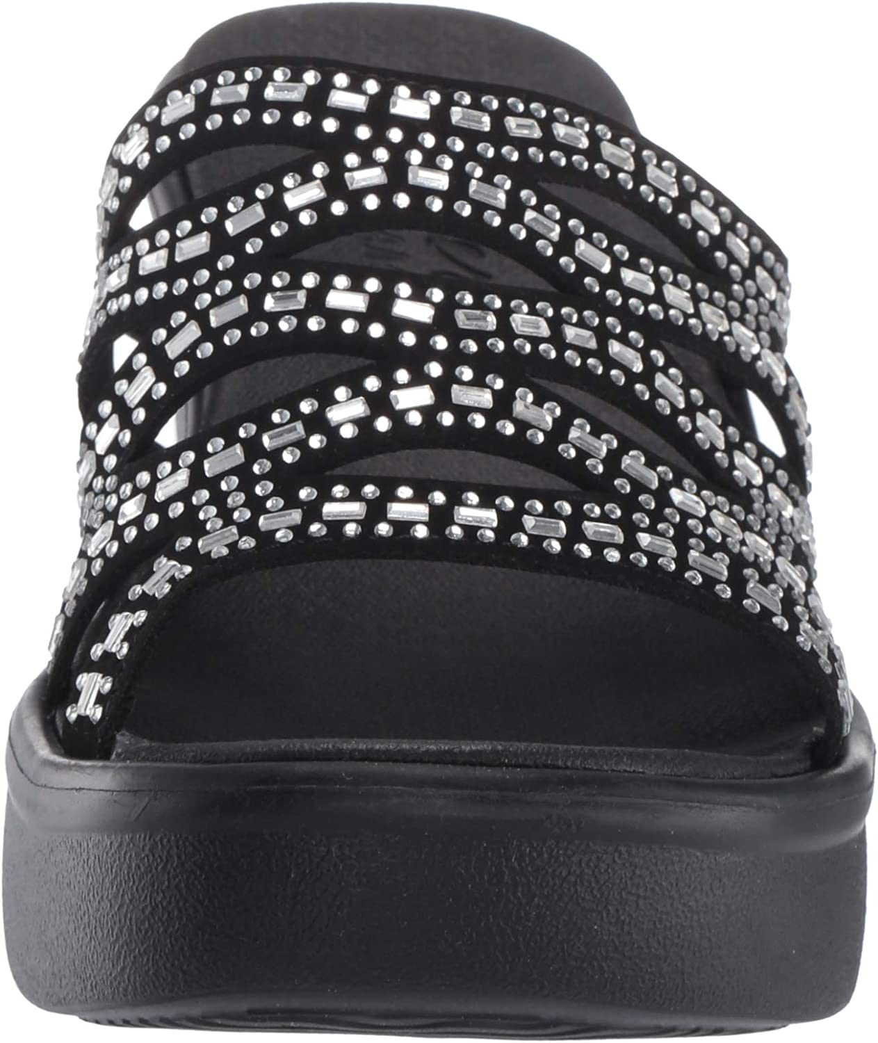 Skechers Womens Rumble Up-Funny Business-High Wedge Rhinestone Sandal