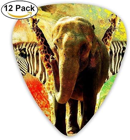 12-Pack Custom Guitar Picks African Animal Collage Standard Bass ...