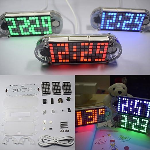 sansido 4 dígitos DIY LED Digital reloj kit DIY DS3231 Touch botón de precisión Hight de