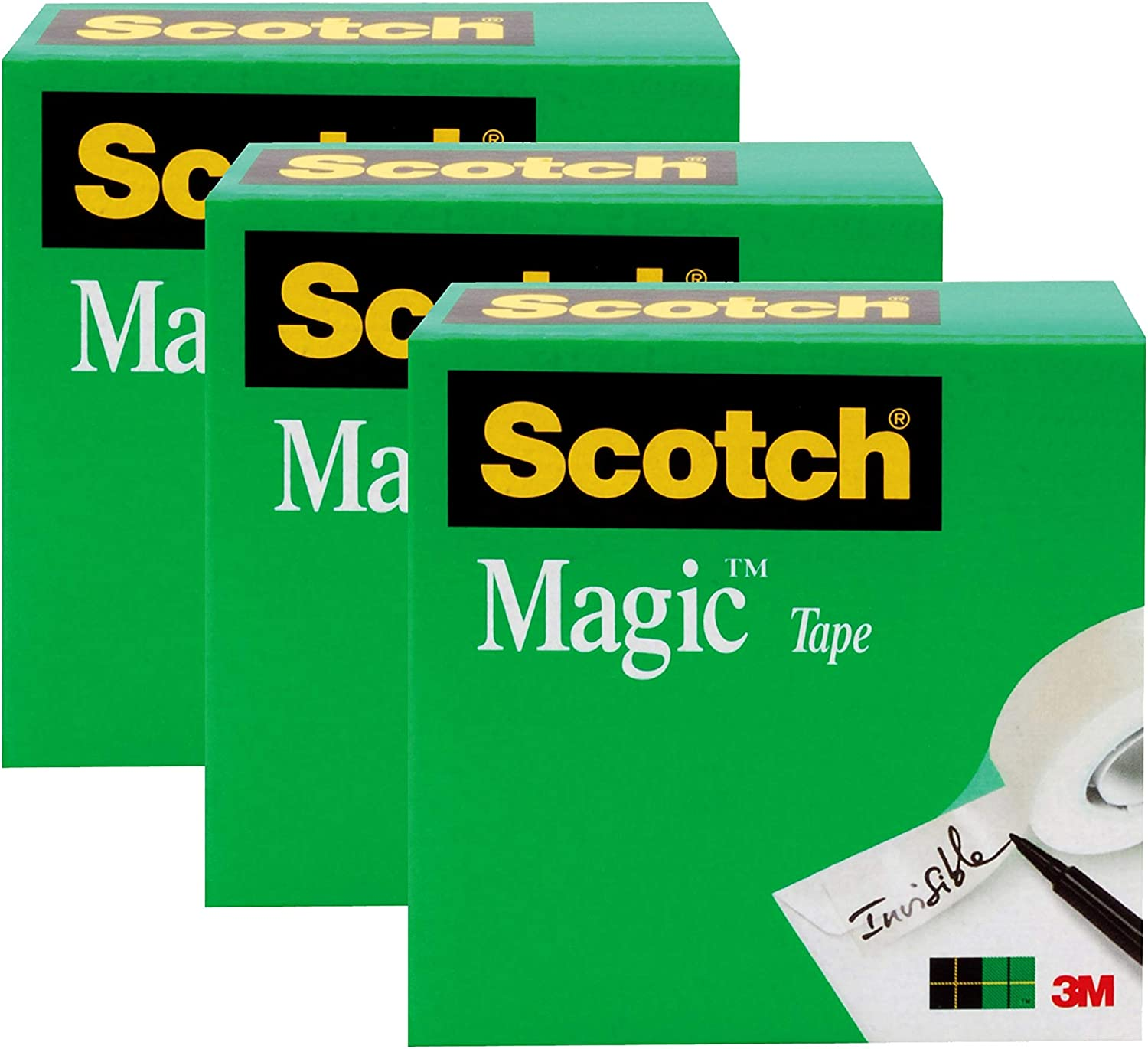 Invisible Engineered for Repairing 3//4 x 1000 Inches Boxed 810K16 16 Rolls Numerous Applications Scotch Magic Tape