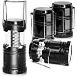 PARTYSAVING [4-Pack] LED Camping Lantern, Suitable Survival Kits for Hurricane, Emergency Light for Storm, Outages, Outdoor P
