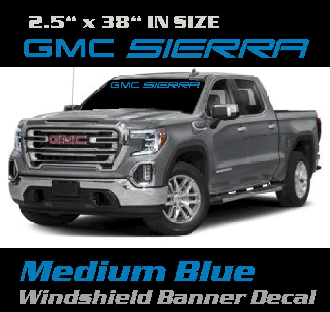 Chevy Windshield Banner. Banner Chevrolet Windshield Banner Graphic Sticker Color Medium Blue 6 to 8 Year Outdoor Life 2.5 inch by 38 inch GMC Sierra Windshield Decal
