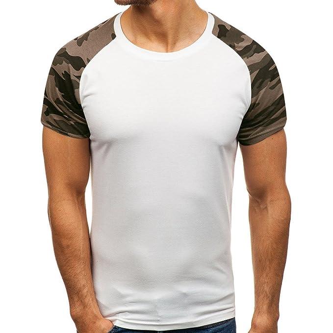 Kobay Uomo Casuali Dimagriscono Manica Corta T-Shirt da Baseball Camicie  Camicia  Amazon.it  Abbigliamento b6ca17251e61
