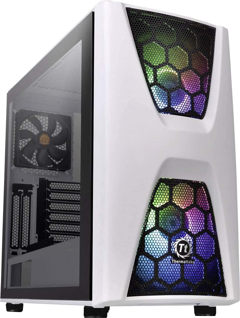 Thermaltake Commander C 34 TG Snow ARGB Edition/Dual 200MM ARGB Fans/Tempered Glass/ATX Mid-Tower Chassis: Thermaltak: Amazon.es: Informática