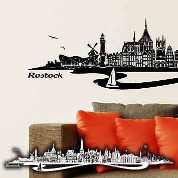 Wandtattoo Rostock wandkings wandtattoo skyline rostock mit fluss 100 x 19 cm