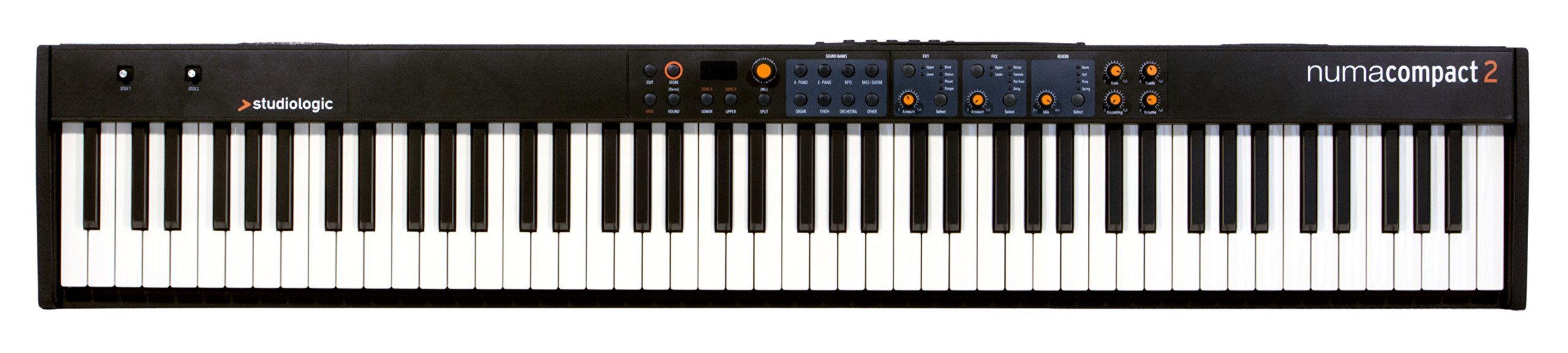Studiologic Numa Compact 2 88-Note Semi-Weighted Keyboard with Built-In Speakers by Studiologic