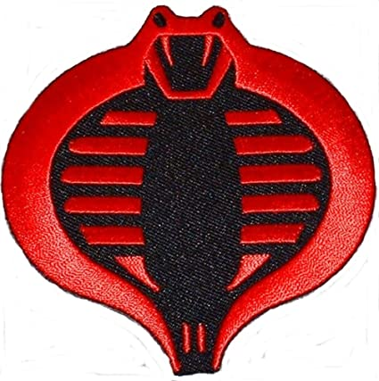 Amazon Gi Joe Cobra Red Black Embroidered Logo Patch Arts