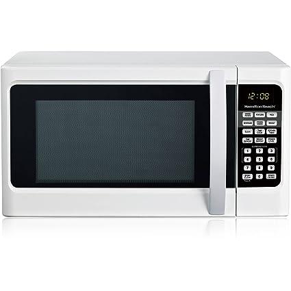 amazon com hamilton beach 1 1 cu ft digital white microwave oven rh amazon com Hamilton Beach 1 1 Microwave hamilton beach 1000 watt microwave hb-p100n30al-s3 manual
