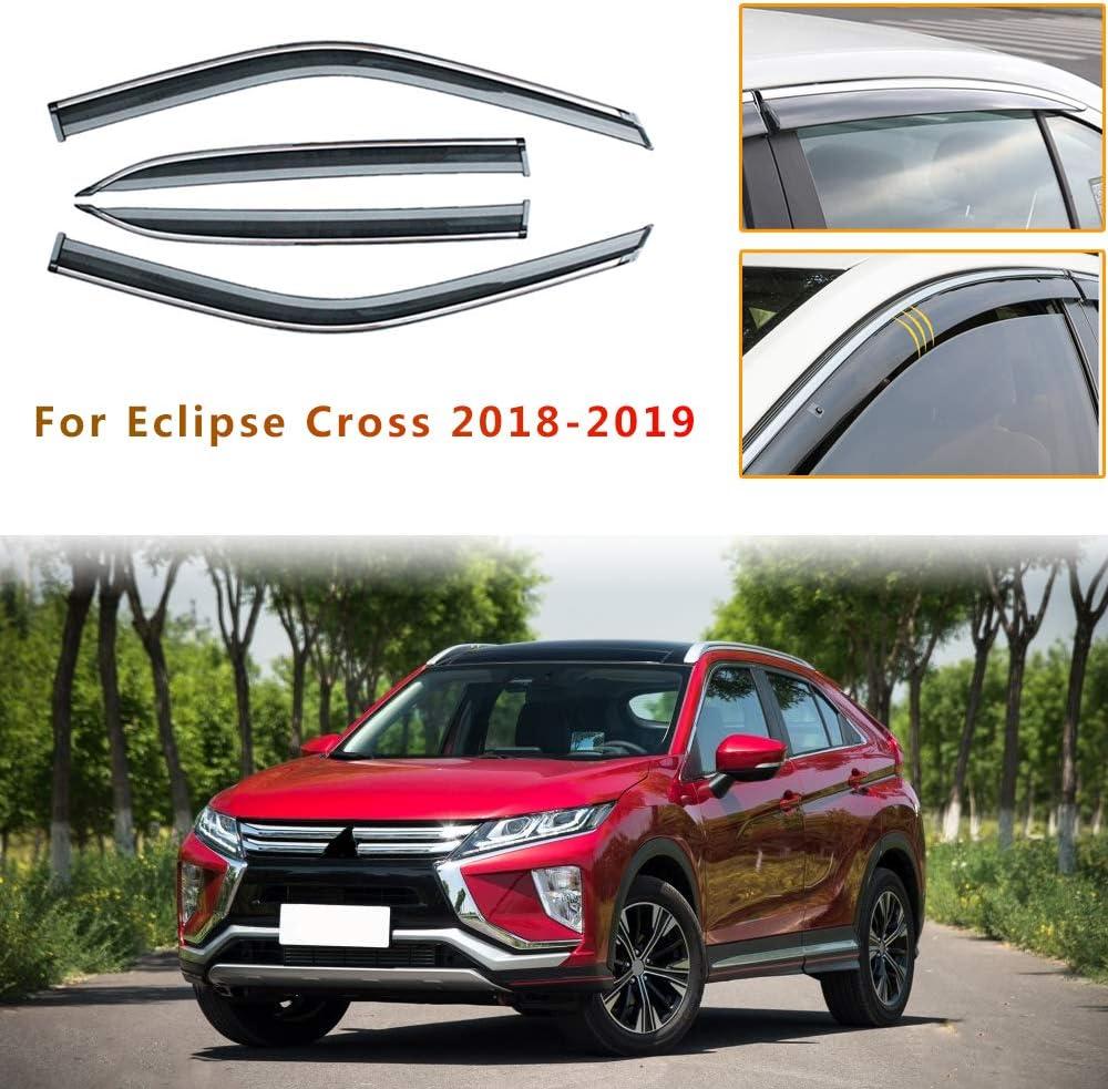 Piaobaige 4 Teilige Autofenster Visiere Sonnenregenschutz Windabweiser Für Mitsubishi Eclipse Cross 2018 2019 Küche Haushalt