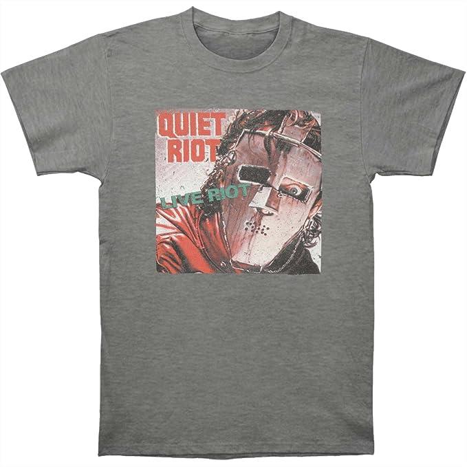 American Classics Banda de rock heavy metal quiet riot riot2 vivo camiseta para hombre: Amazon.es: Ropa y accesorios