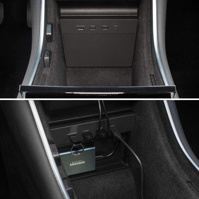 Generisch CCS Port Abdeckung Kappe f/ür Tesla Model 3 schwarz