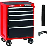 CRAFTSMAN Tool Cabinet with Drawer Liner Roll & Paper Towel Holder, 26-Inch, 5 Drawer, Red (CMST82769RB)