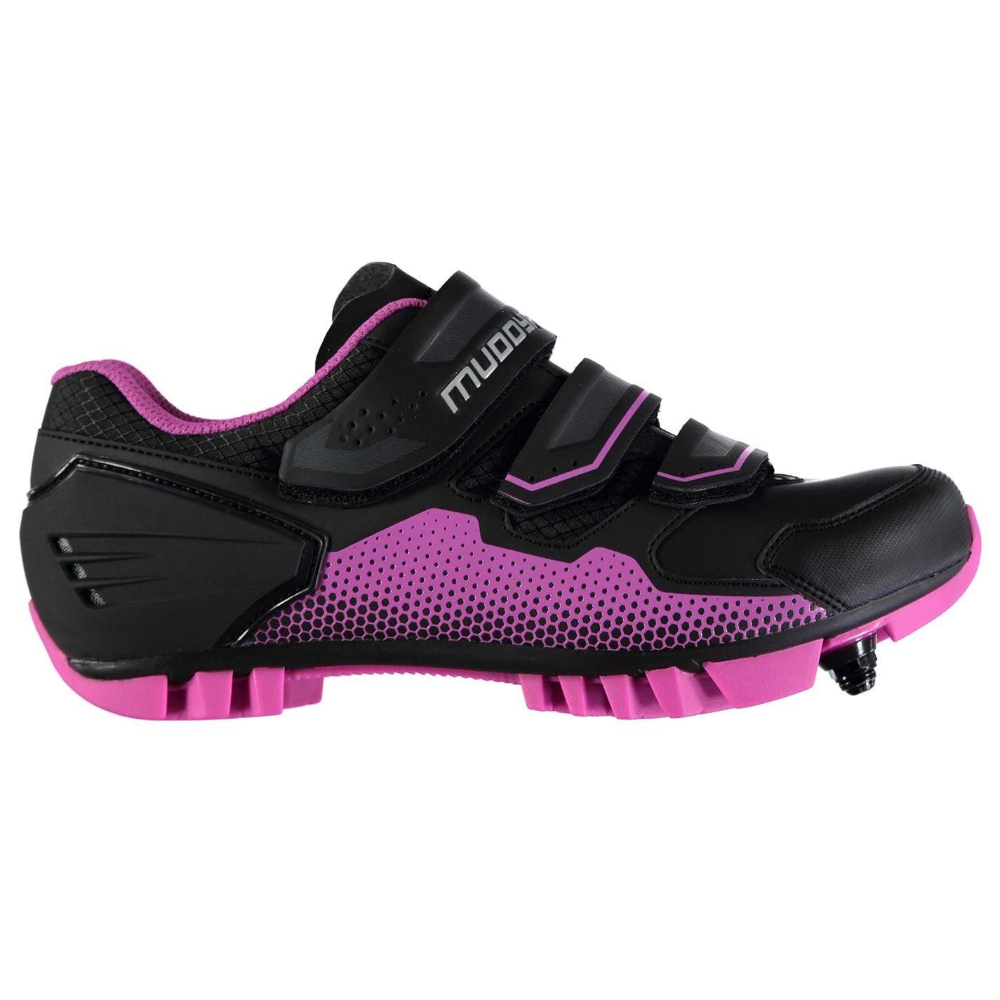 Muddyfox Womens MTB100 Cycling Shoes Waterproof Lightweight Mesh Breathable Black/Pink UK 6.5 (40)