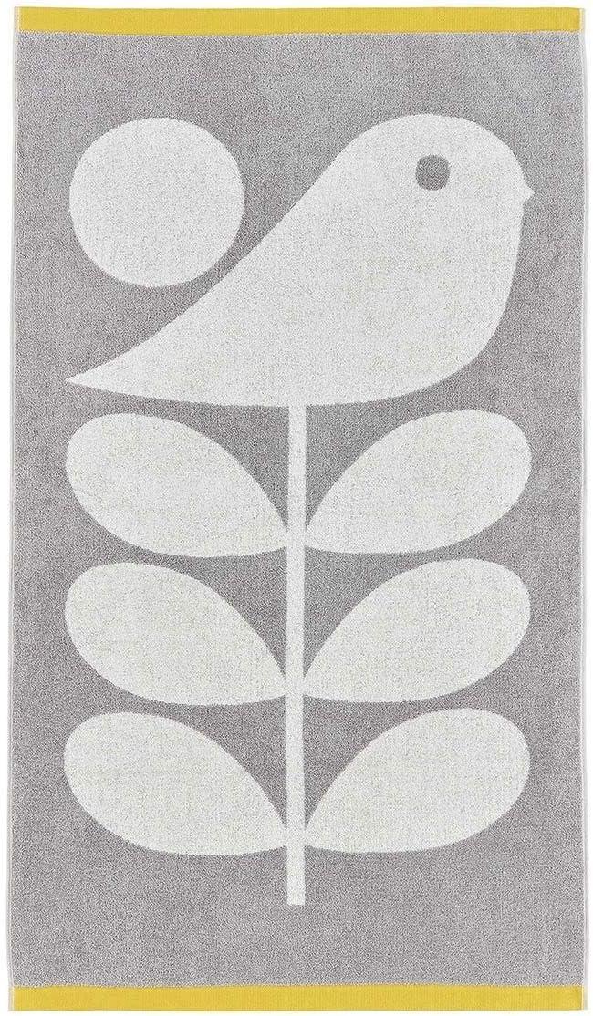 Licence Official Designer Orla Kiely 100/% Coton T/ôt Oiseau Granite Bain Towel
