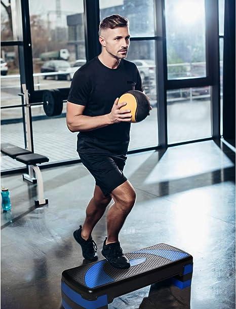 arteesol Step de Aer/óbic Stepper para Fitness Plataforma de Altura Ajustable Carga M/áx 250kg 10//15//20 cm 78x30cm Stepper Ar/óbic y Cardio para Ejercicios Gimnasia en casa y en la Oficina