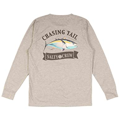 new product f9bfb 959a6 Salty Crew Men s Sickle Fin Tech Long Sleeve Shirt   Amazon.com