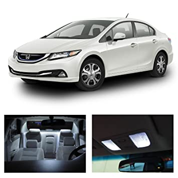 Honda Civic 2013 2015 White LED Package Kit   Interior + Tag+ Reverse  Lights (