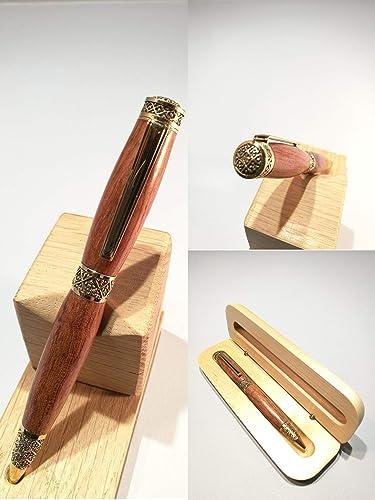 Rollerball Pen Bubinga Wood Gift Bag Gift for Her Gift for Him