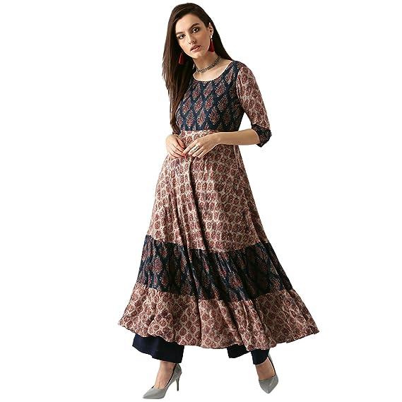 c4f57353b Libas Women s Anarkali Ankle-Length Kurta  Amazon.in  Clothing   Accessories