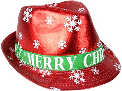 d9b424163ab06 Image Unavailable. Image not available for. Color  CHRISTMAS FEDORA
