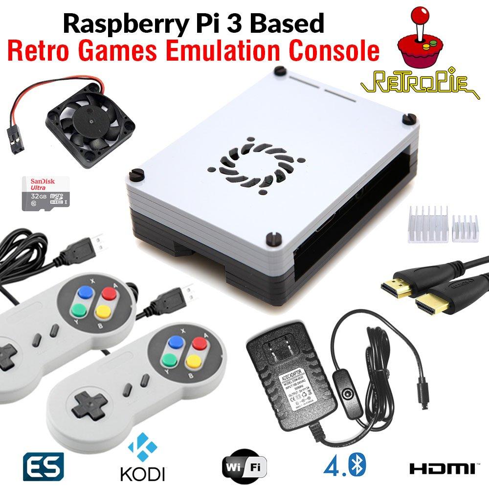 RetroBox - Raspberry Pi 3 Based Retro Game Console, 32GB Edition with Heatsinks Installed and Cooling Fan, RetroPie