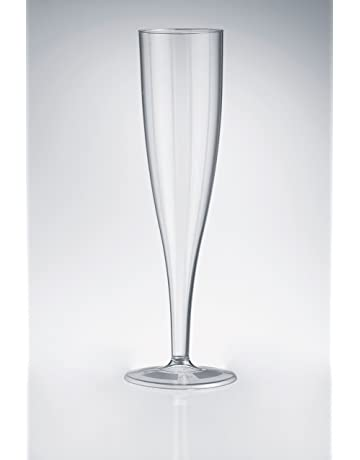 d0758c9fcbac 50 x High quality one piece plastic champagne flute   glass - 160 ml (6oz