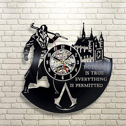 Reloj de pared de vinilo 3D tocadiscos hip hop reloj de pared ...