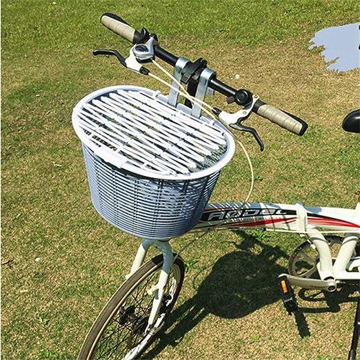 Z-ZH Cesta Delantera de Bicicleta, Gran Capacidad con Tapa ...