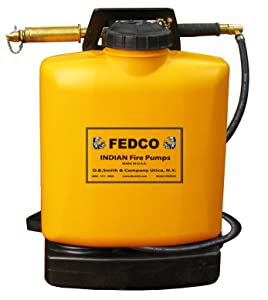 Fedco 190387 Poly Tank Fire Pump, 5-Gallon, Orange