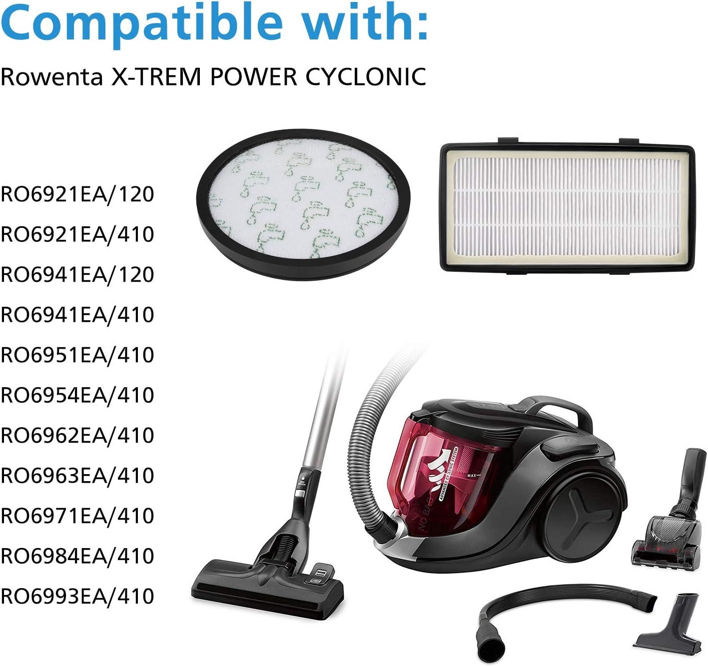 Isincer HEPA Filters Compatible con el Aspirador eléctrico Rowenta ...