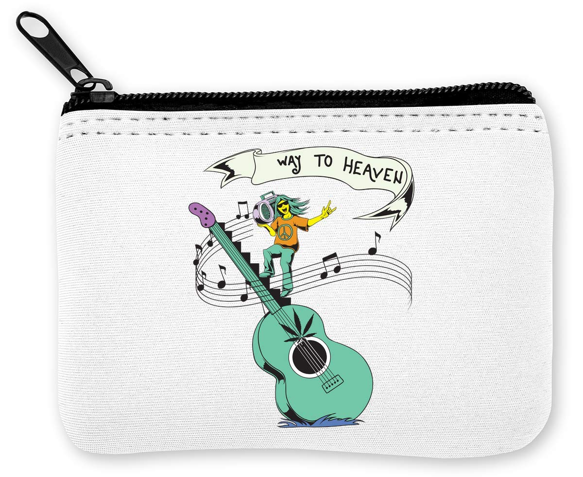 Way To Heaven! Singing Hippie Guitar Ganja Monedero de la ...