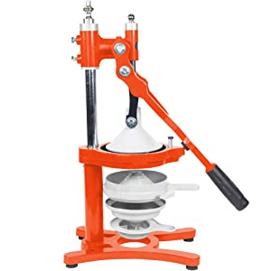 Zaksenberg Commercial Citrus Juicer Manual Presser: Press Freshly Squeezed Orange, Lime, Lemon, Grapefruit & Pomegranate Juice Like a Professional Chef. XXL Extractor. Enameled Iron Fruit Juicers