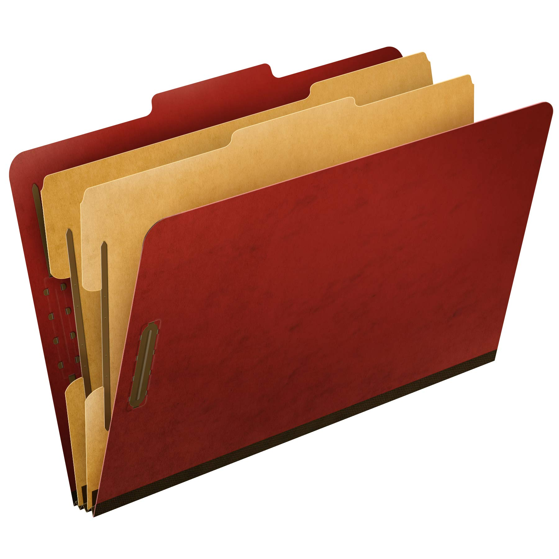Pendaflex Top-Tab Pressboard Classification Folders, 2/5 Cut, Legal Size, Brick Red, 10 per Box (2257R) by Pendaflex