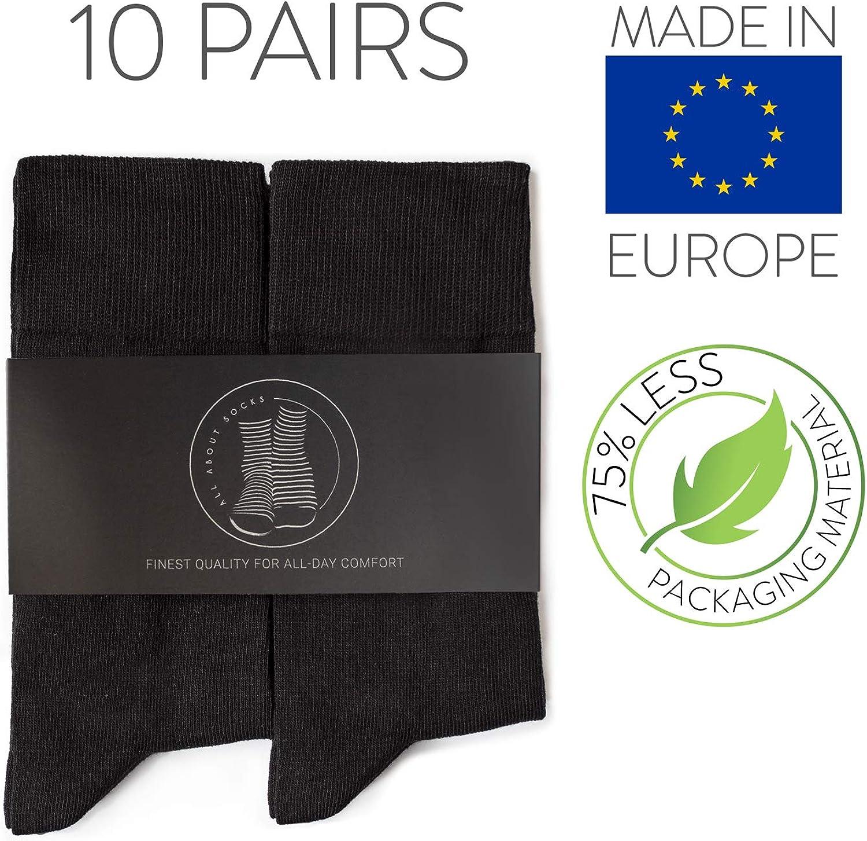 - Calze da Uomo per lavoro e tempo libero 10 paia Calze di cotone Made in Europe OEKO-TEX 100 ALL ABOUT SOCKS Calze Uomo e Donna neri