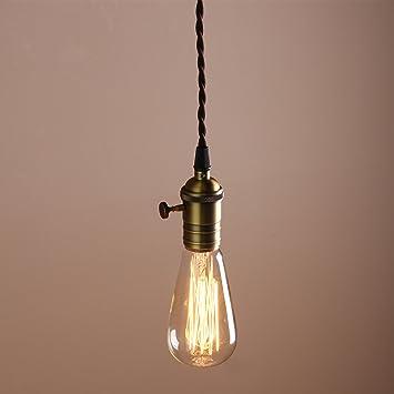 cord lighting. permo single socket 1light mini pendant braided textile cord vintage hanging light lighting