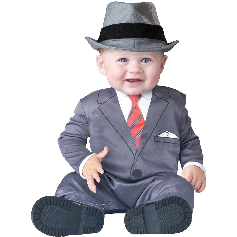 Deluxe de banquero para bebé disfraz de traje de hombre de ...