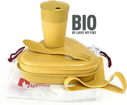 Light My Fire to Go Juego de vajilla y vaso bio, 5 piezas, fabricado en Suecia