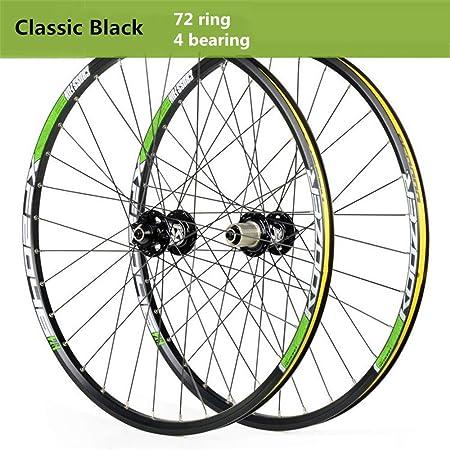 HJRD Rueda Delantera de Bicicleta de montaña Rueda Trasera 26/27.5/29 Pulgadas Juego de Ruedas de Bicicleta aleación de Aluminio Freno de Disco llanta Liberación rápida Disco 32H Velocidad 8-11: Amazon.es: Hogar