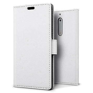 Funda Nokia 5,SLEO Cartera Carcasa Piel PU Suave Flip Folio Caja Super Delgado [Estilo Libro,Soporte Plegable y Cierre Magnético] para Nokia 5 - ...