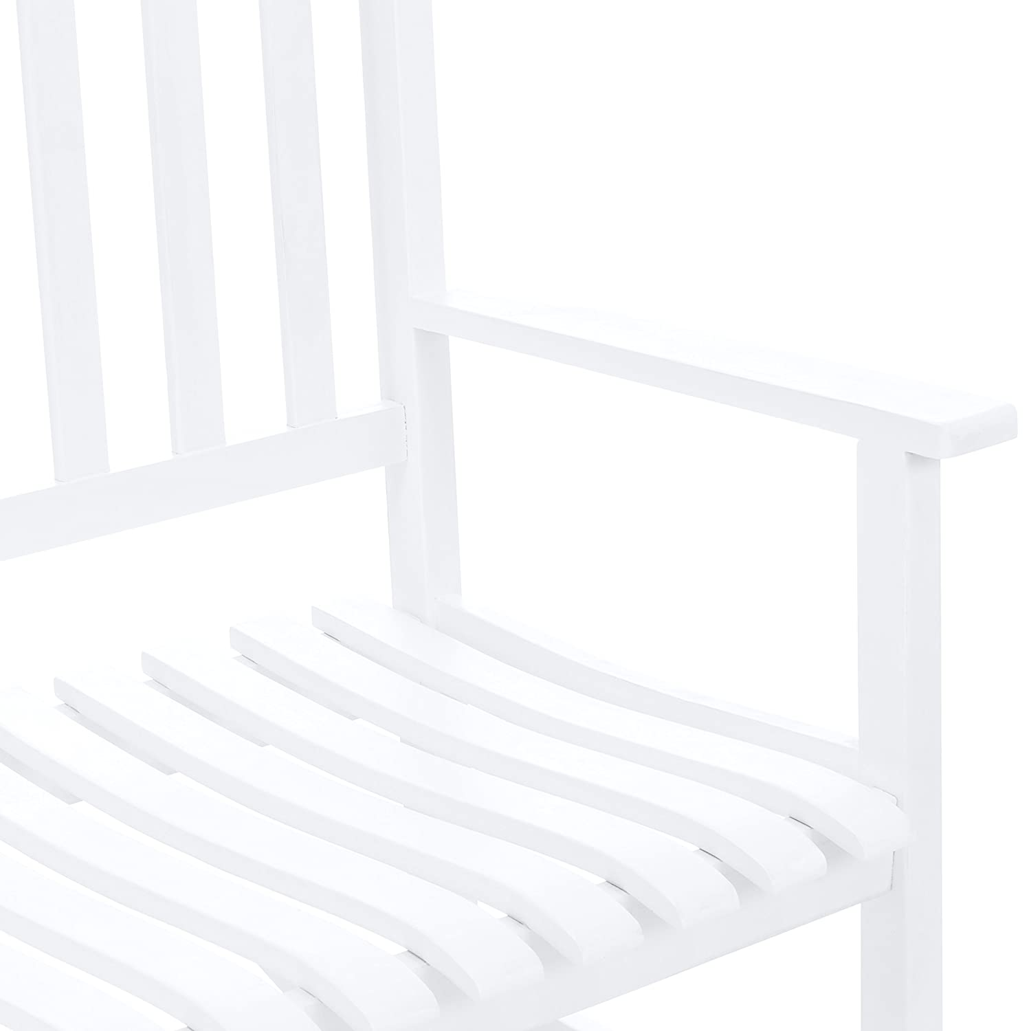 best choice products 2 person rocking chair w contoured seat white